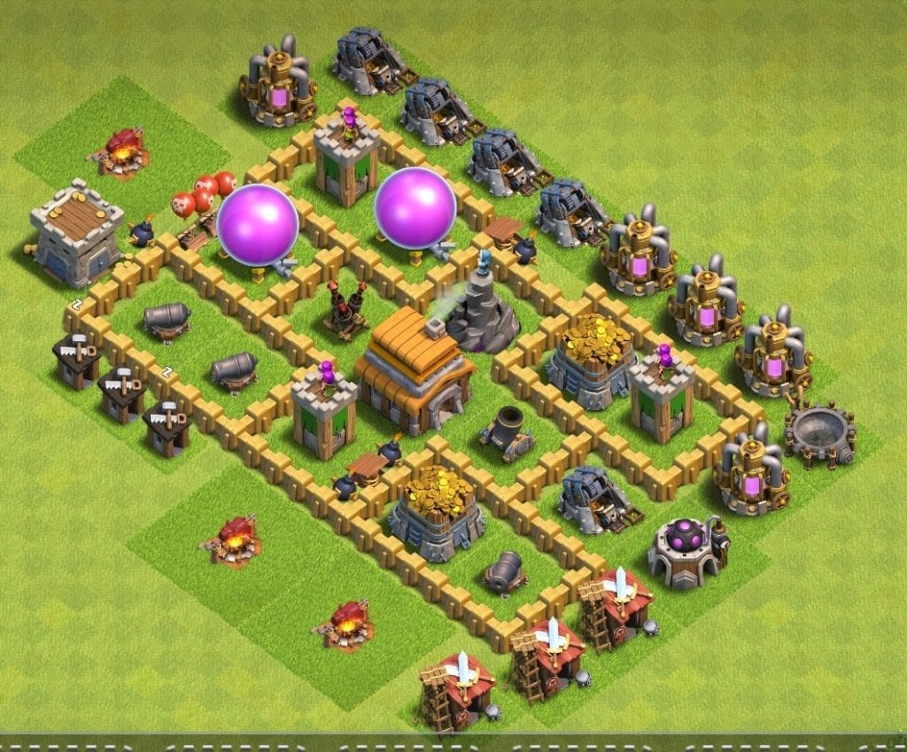 Town Hall 5 trophy layout
