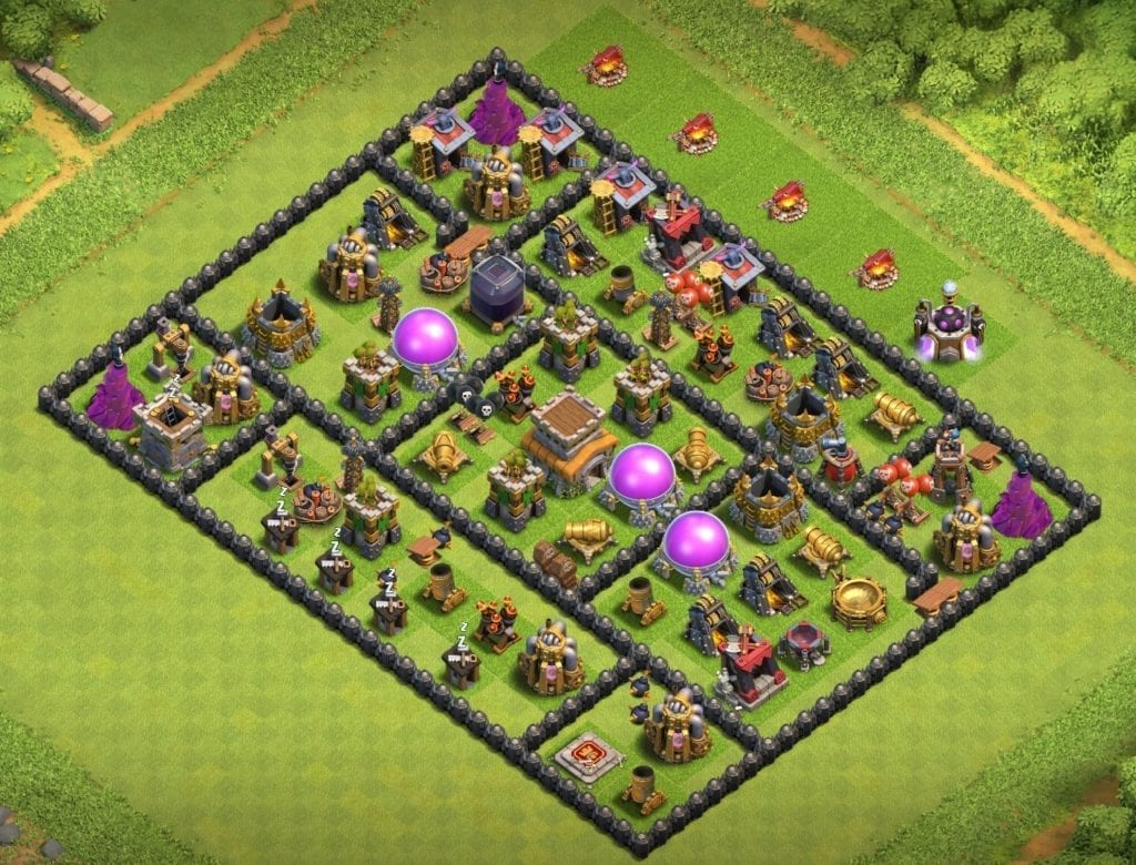 town hall 8 farming layout