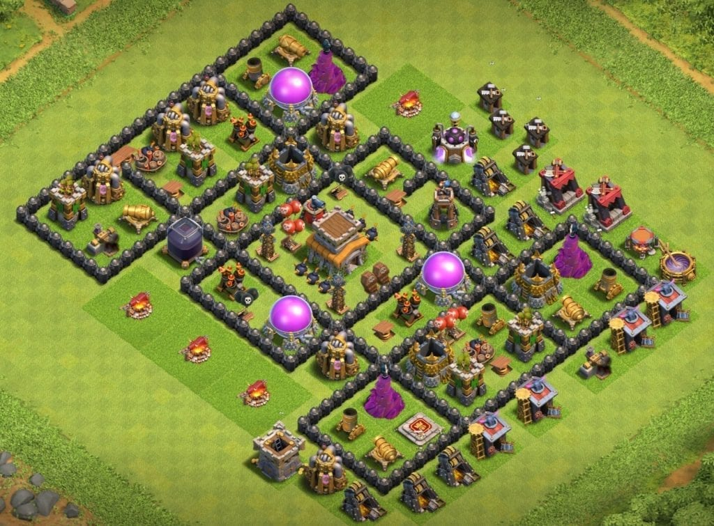 town hall 8 farming layout copy link