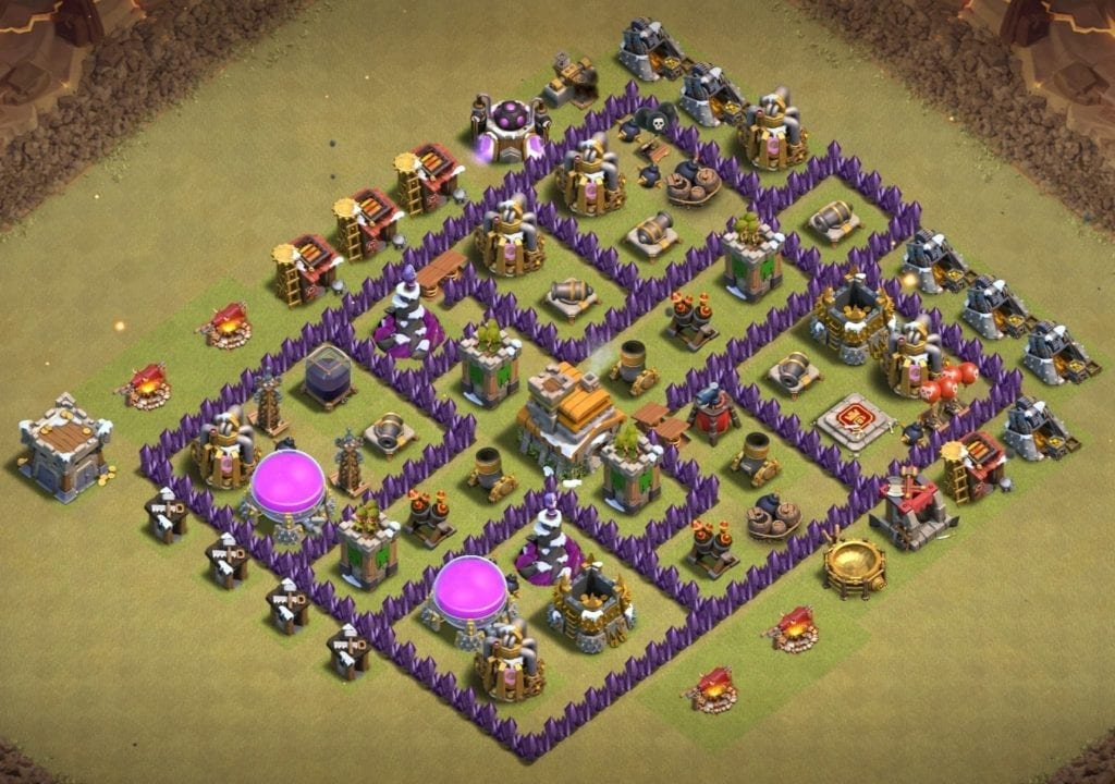 anti 3 star town hall 7 layout