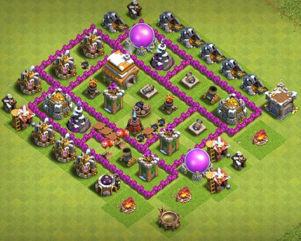 Town hall 6 layout link anti everything