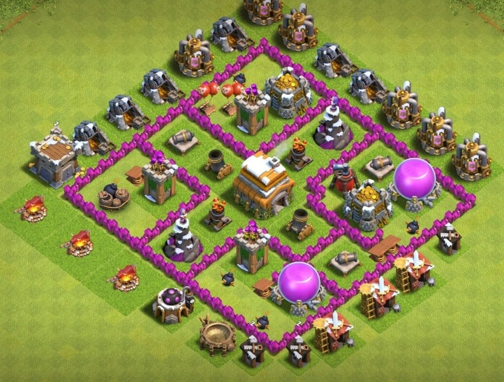 town hall 6 hybrid layout