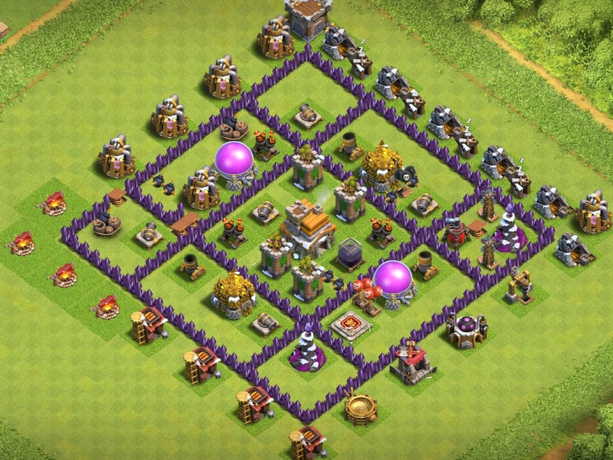 Best Th7 Base 2020 7 Bases Copy Link Bestcocbases