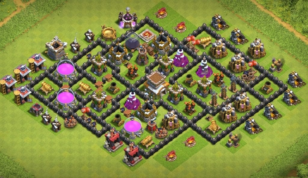 Town Hall 8 hybrid layout