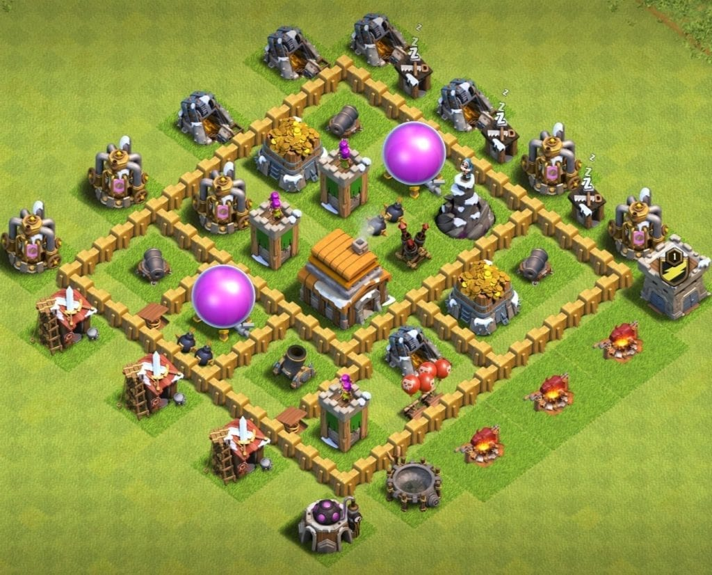 town hall 5 farming layout