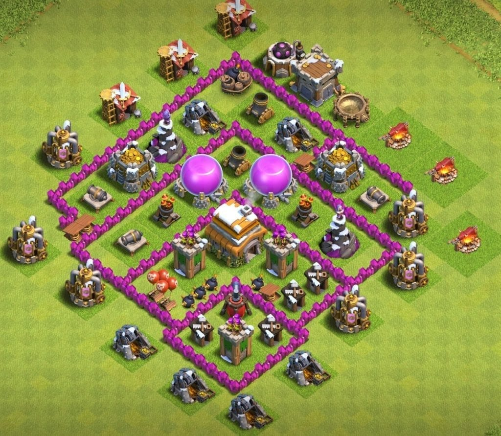 town hall 6 farming layout