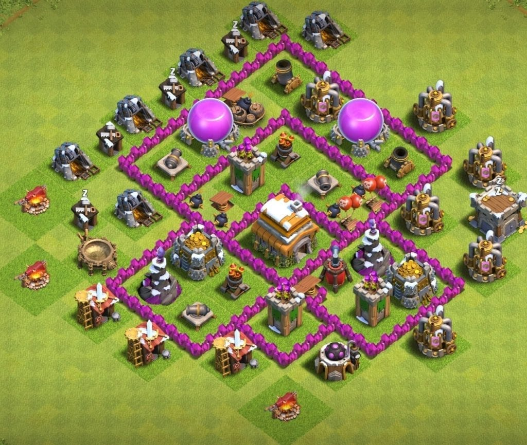 town hall 6 trophy base
