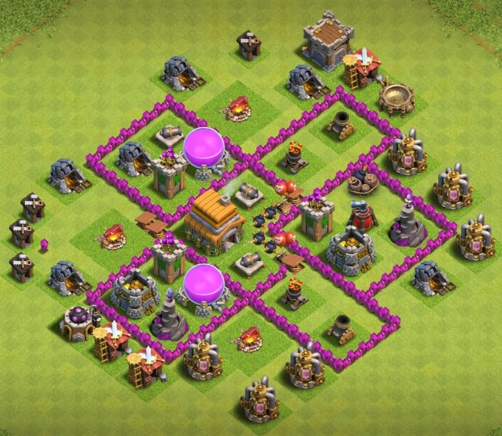 Th6 trophy base with link