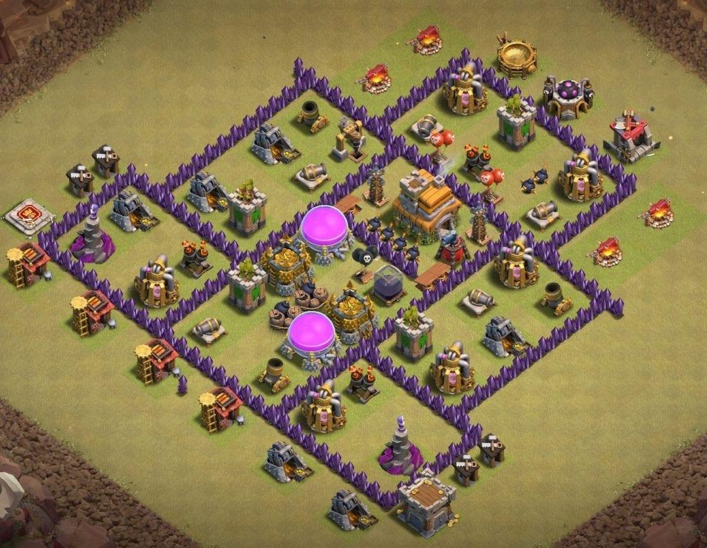 Th7 war base anti ground troop