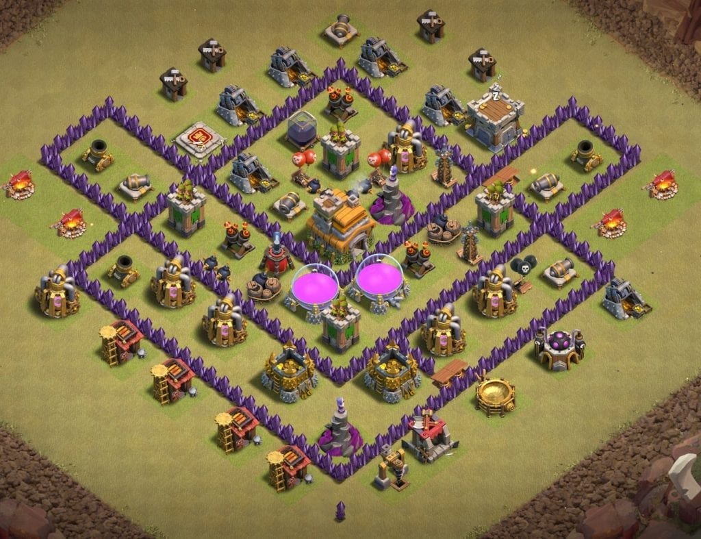 Th7 war layout Anti Loon layout