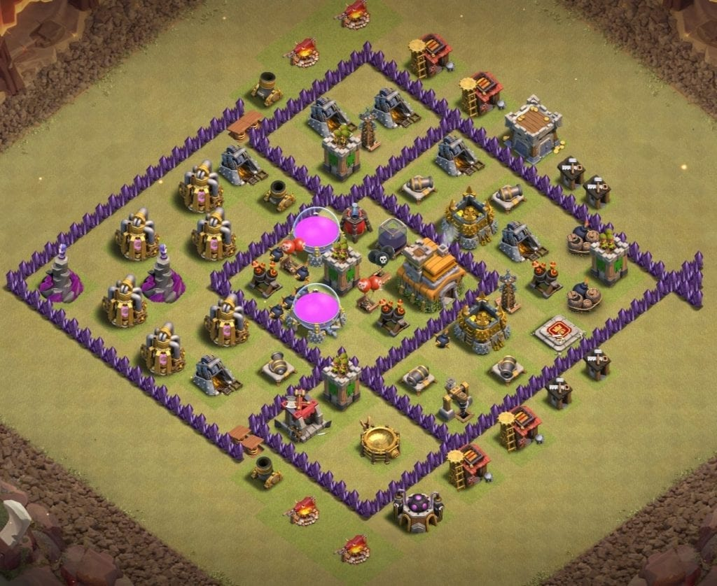 Best Th7 War Base 2020 14 Bases Copy Link Bestcocbases
