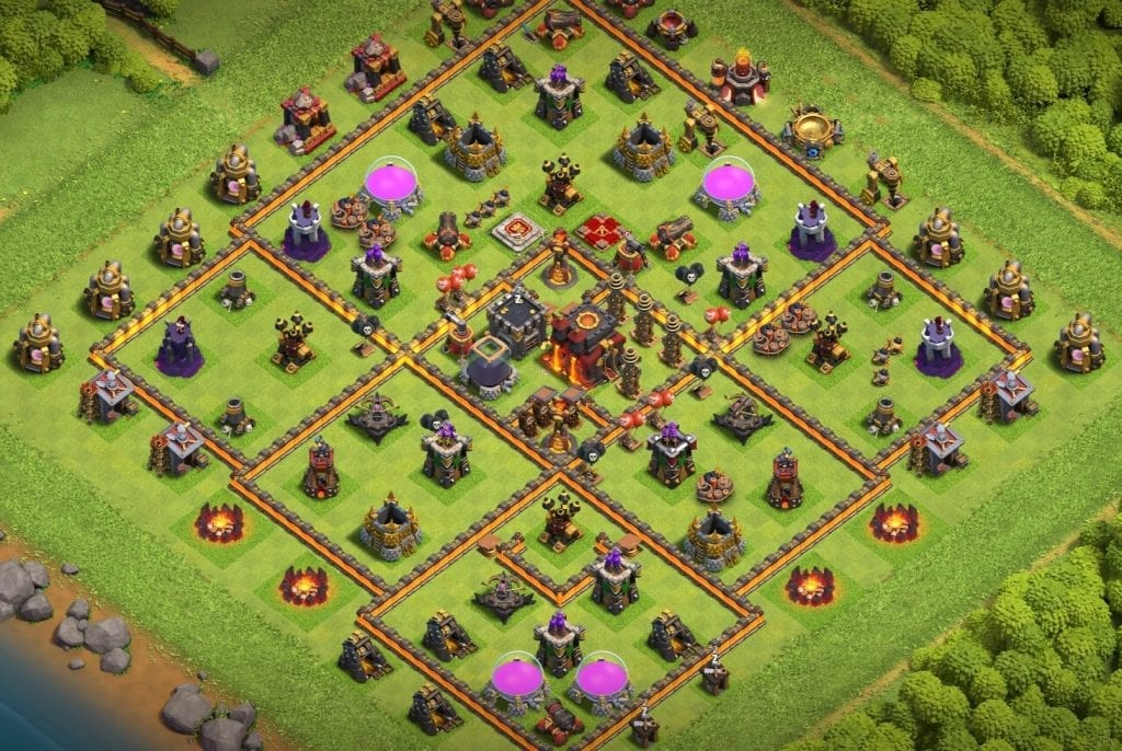 town hall 10 trophy base