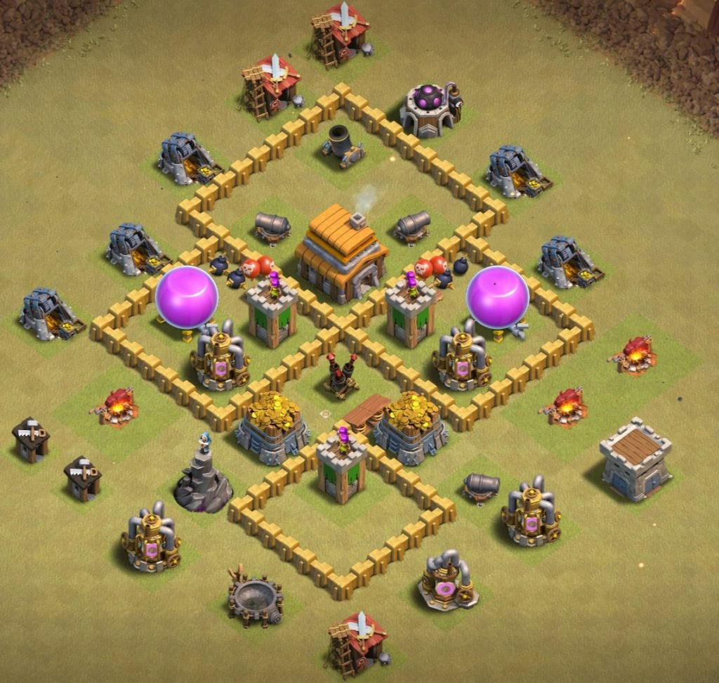 th5 war layout anti giant attack