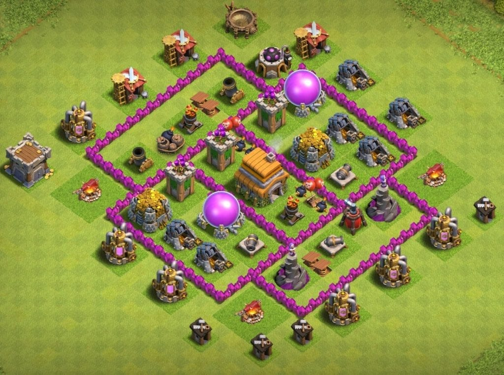 town hall 6 base anti evrything