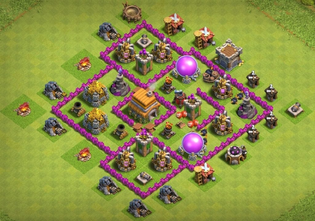 th6 base anti 3 stars