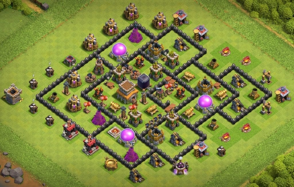 town hall 8 base