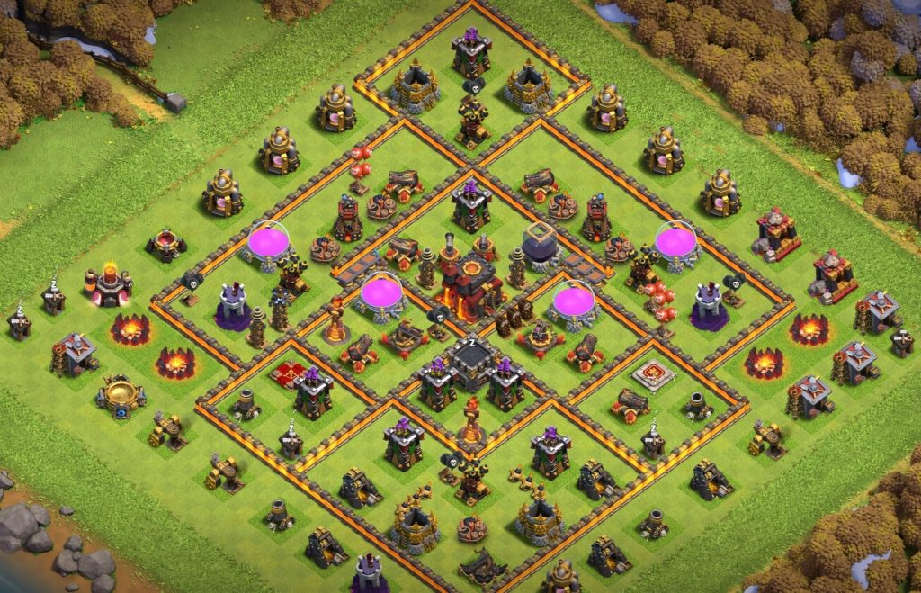 TH10 farming base layout