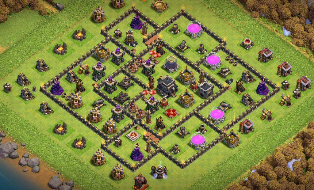 town hall 9 hybrid base