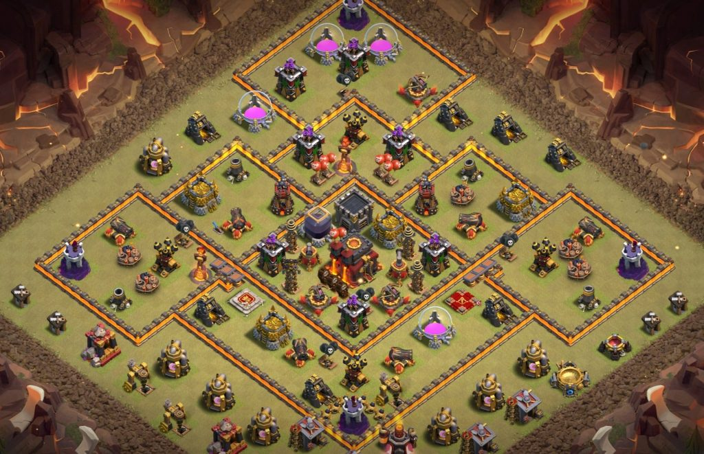 Town hall 10 war layout
