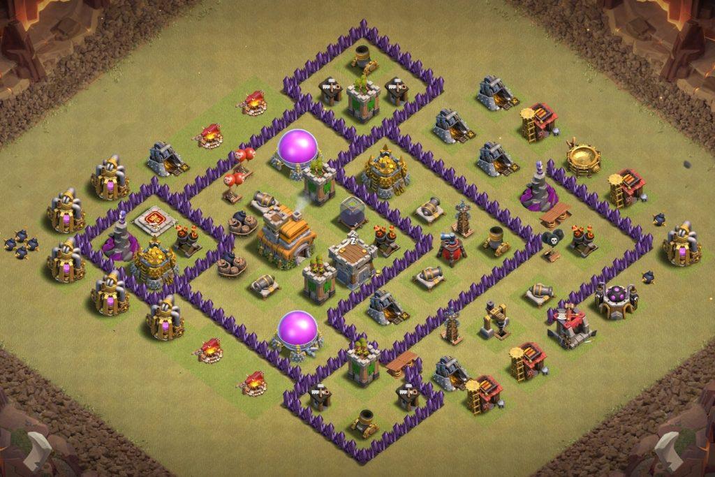 Town Hall 7 war base anti 3 star