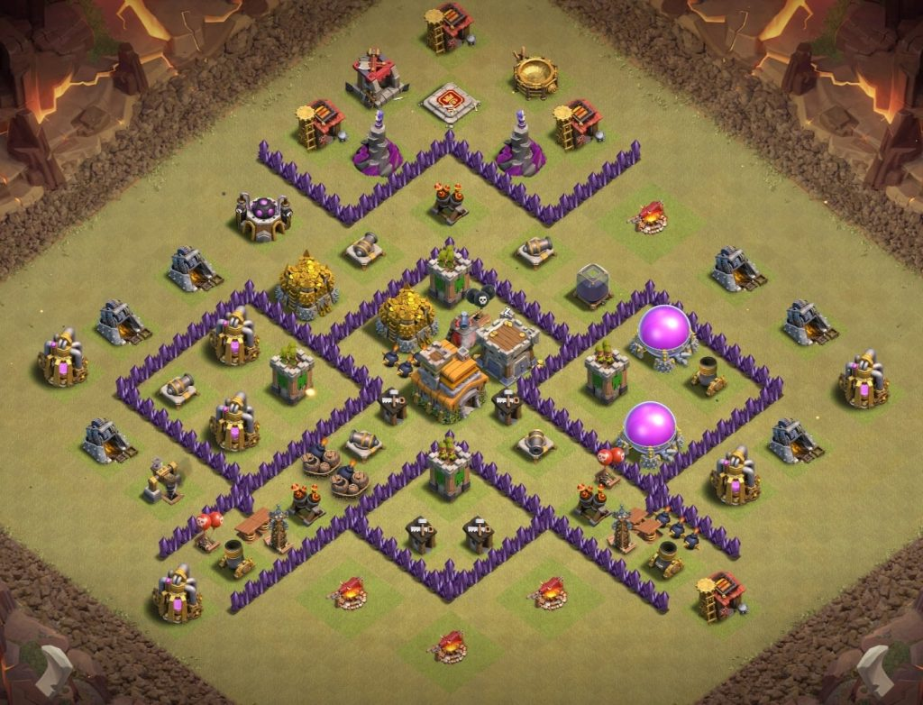 Town Hall 7 layout anti everything