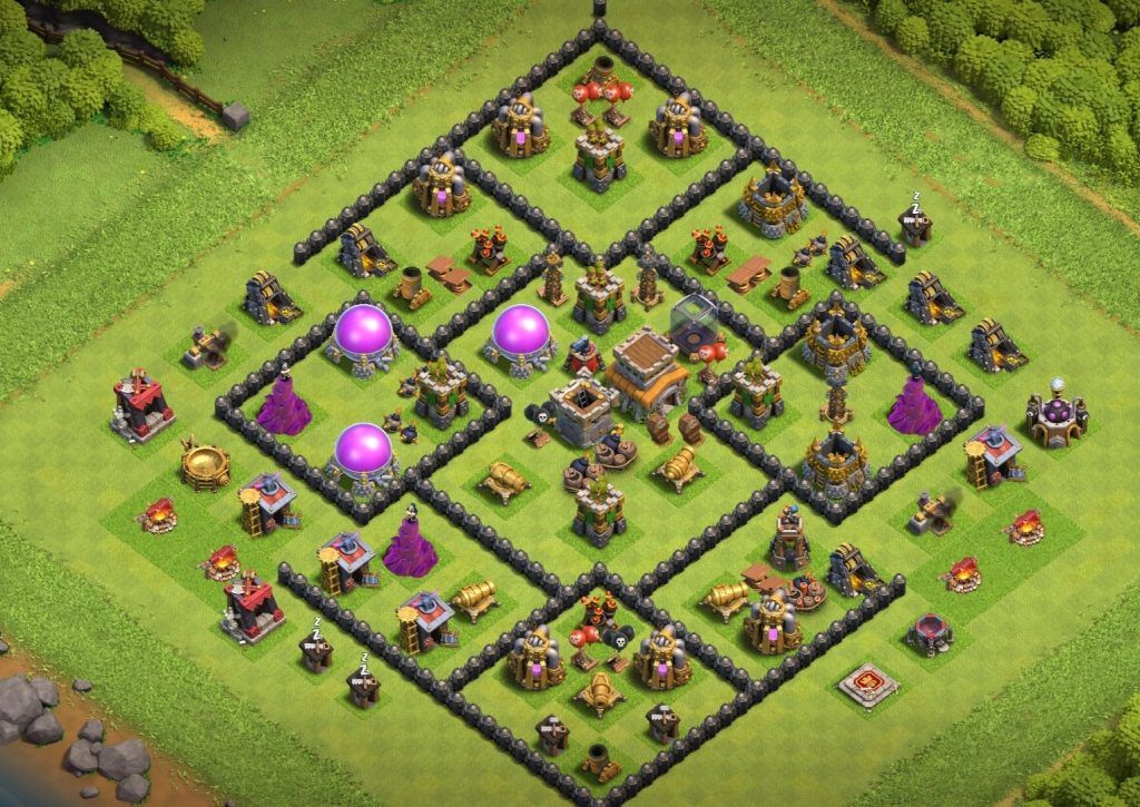 Th8 layout anti air troop