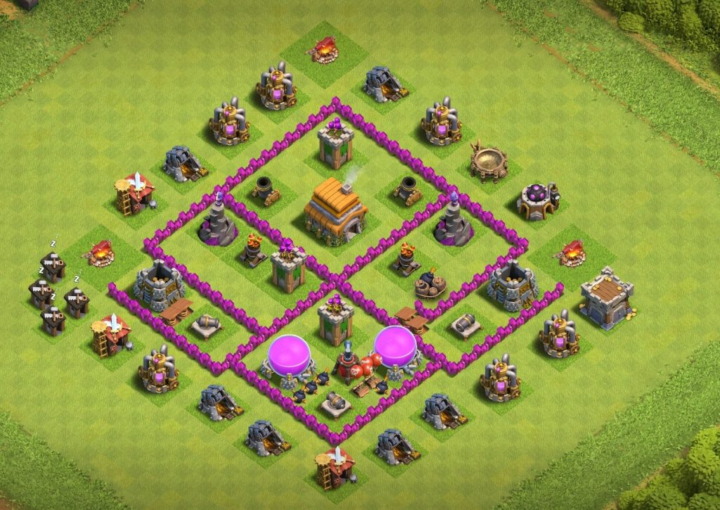 Town Hall 6 Base Layout