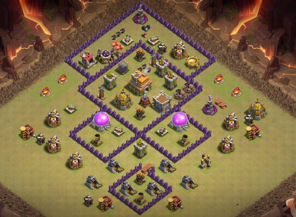 Town Hall 7 war base layout