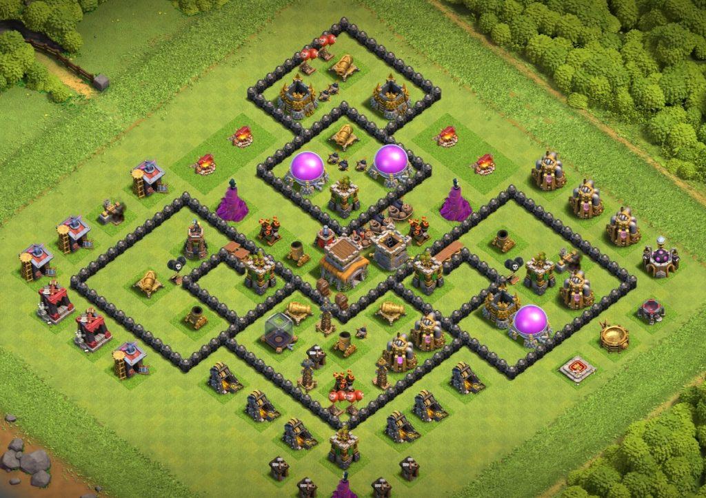 Town Hall 8 base anti everything