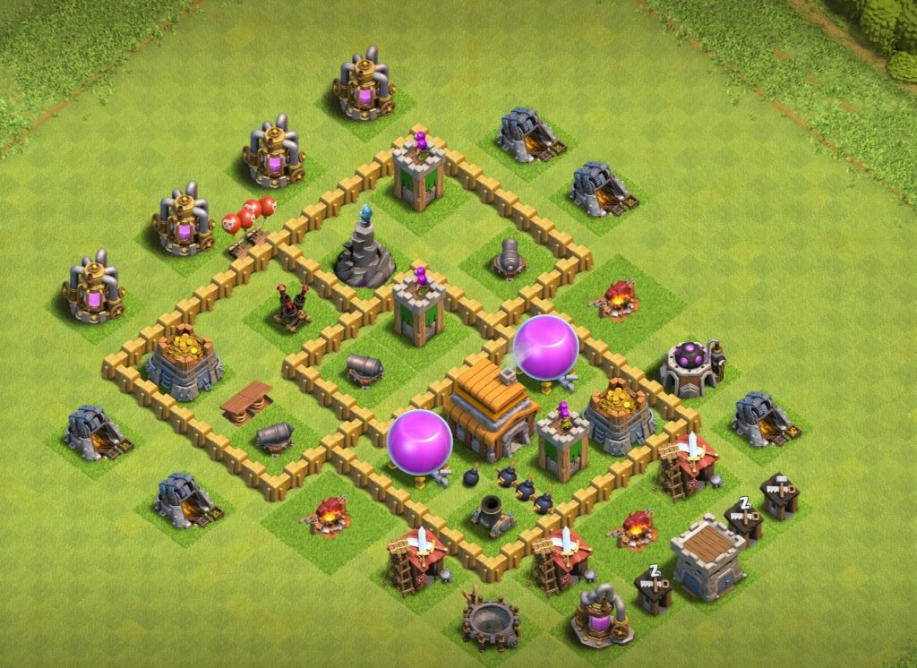 Town Hall 5 farming base