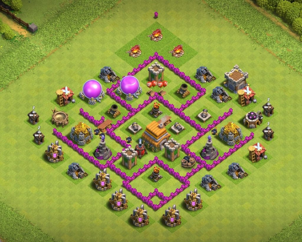 Town Hall 6 trophy Layout copy link