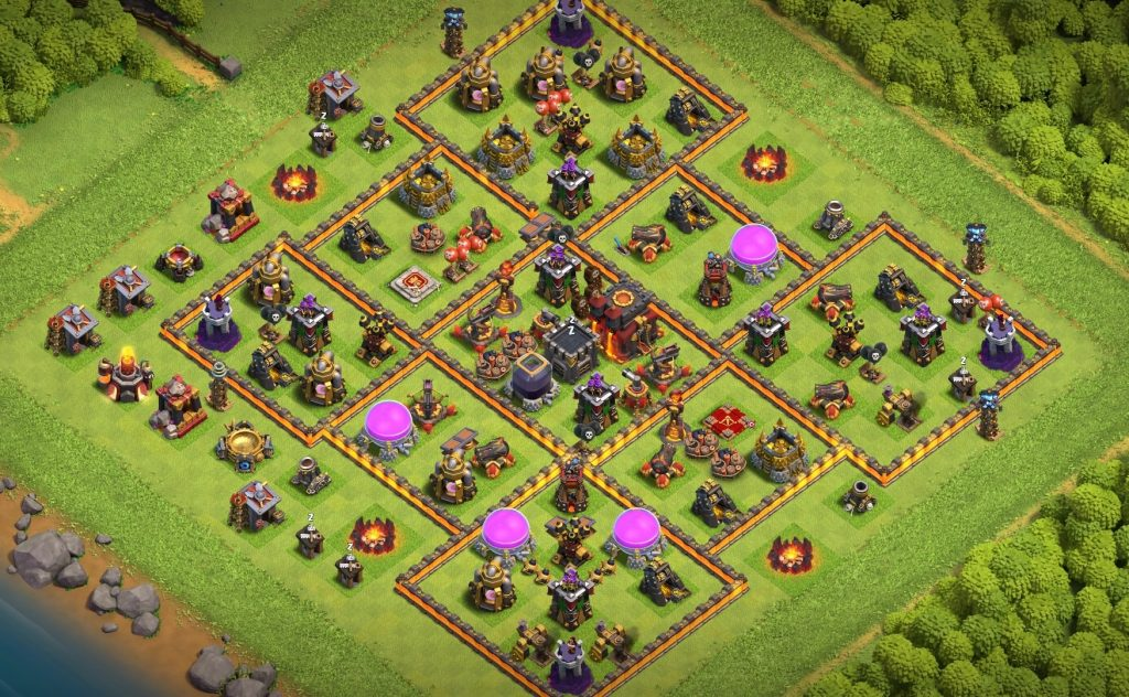 Town hall 10 trophy with link