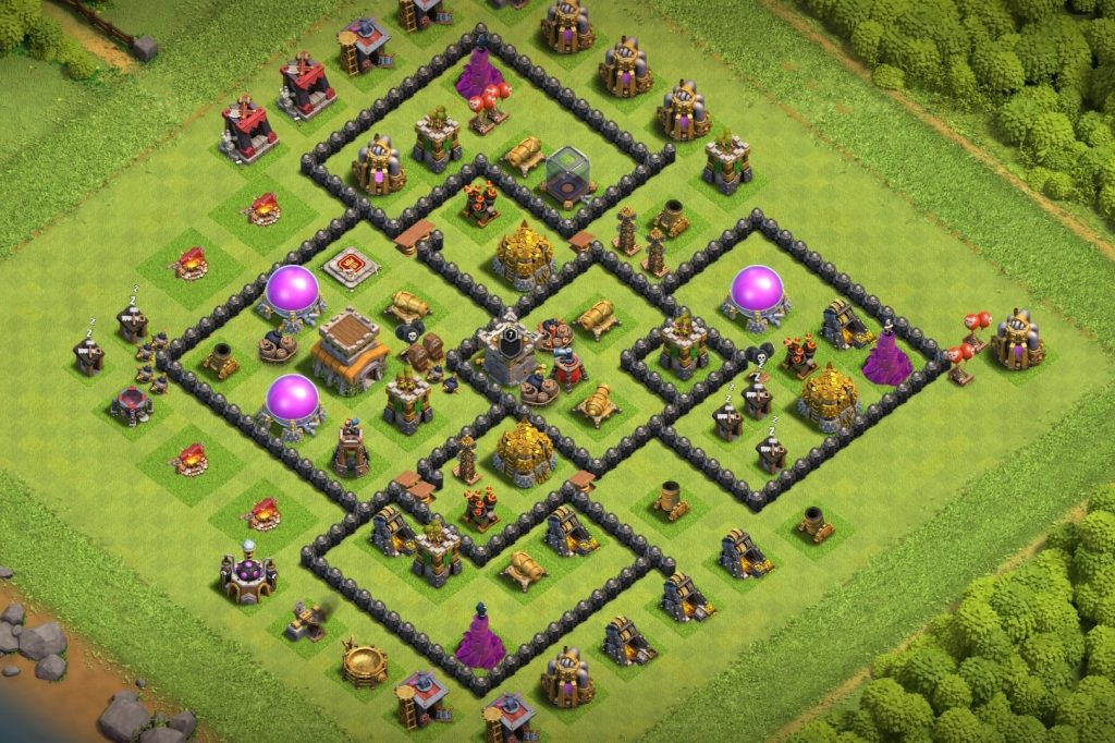 Best town hall 8 defense layout