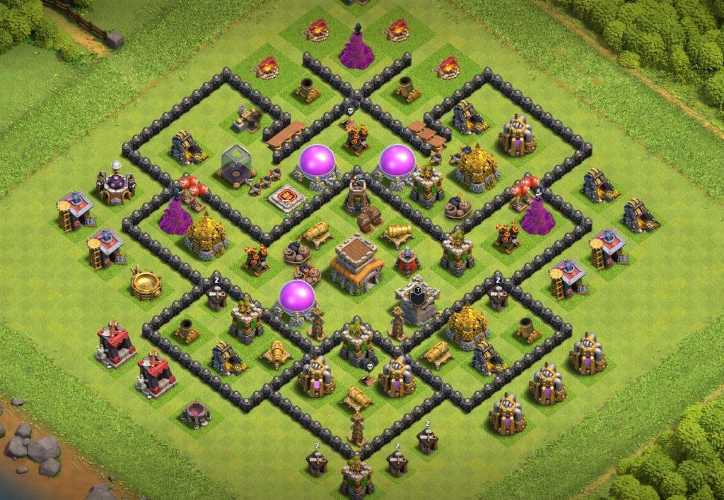 Town Hall 8 defense base