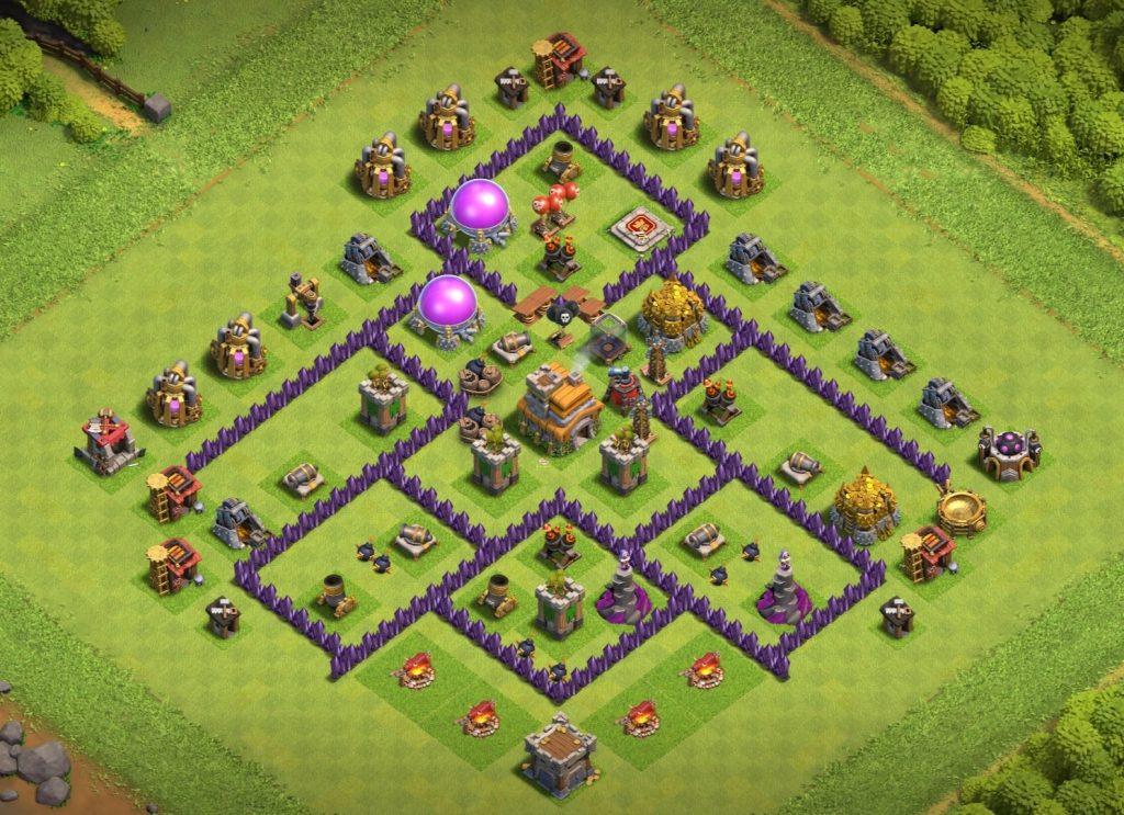 Good Town hall 7 hybrid base