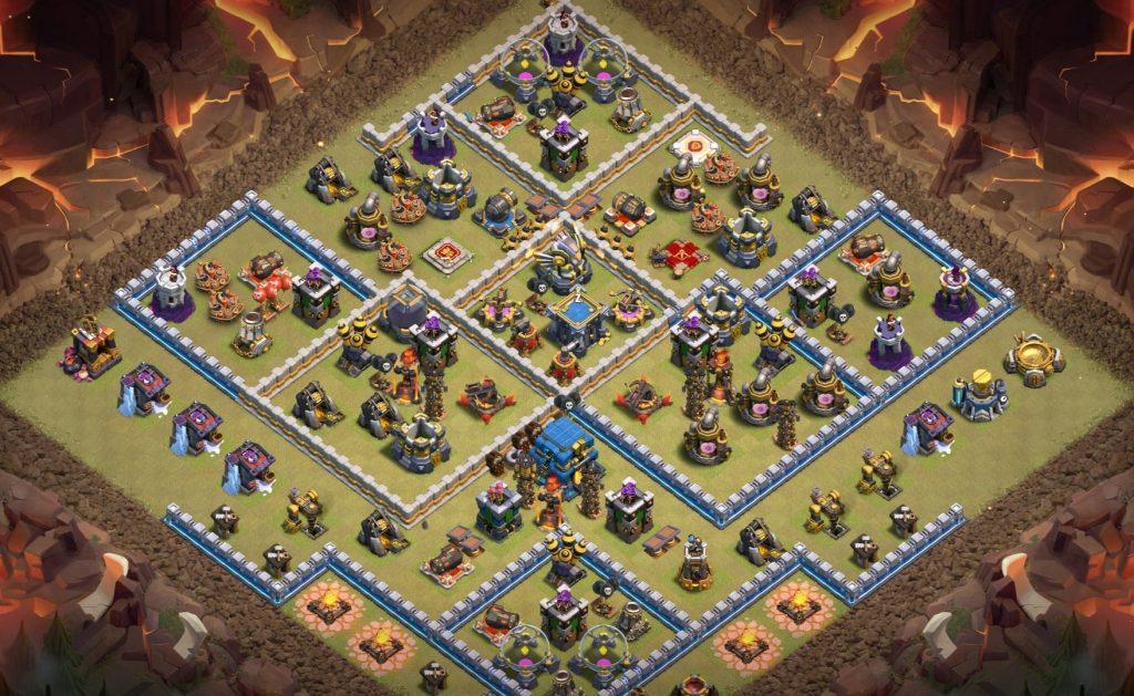 Town Hall 12 war base anti everything