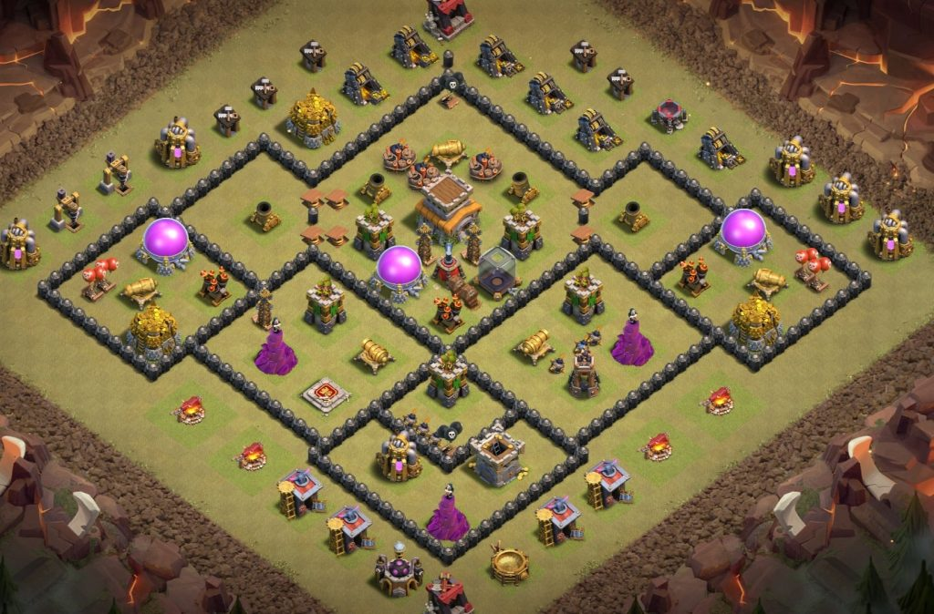 Town hall 8 war base layout